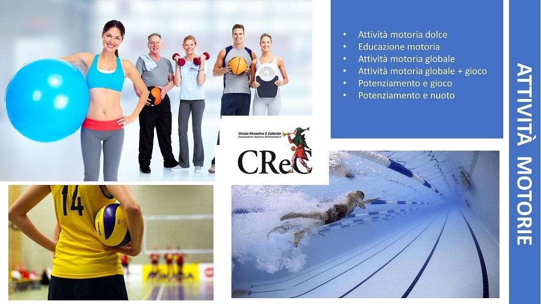 Attività di palestra proposte dal CReC