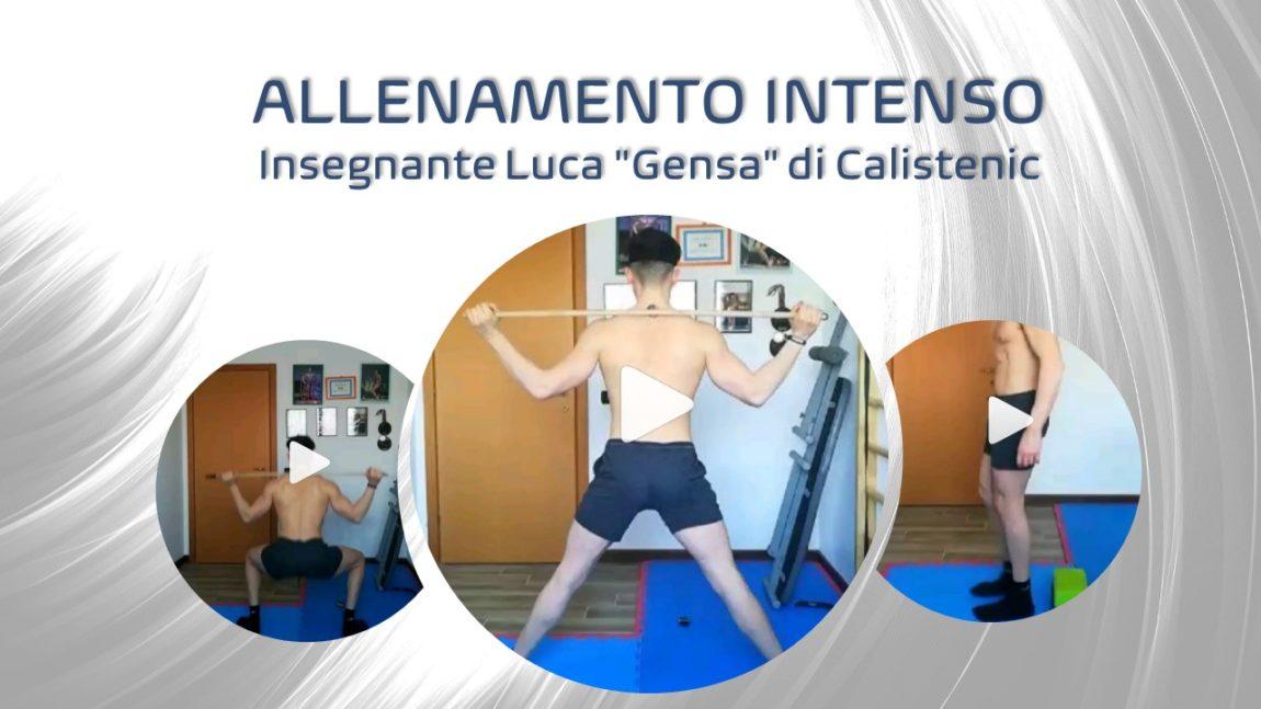 """Allenamento Insegnante Luca """"Gensa"""" di Calistenic"""