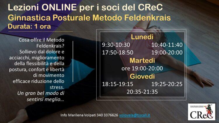 Lezioni online Ginnastica posturale con Metodo Feldenkrais